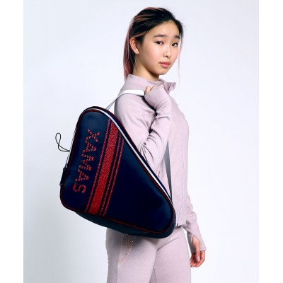 Premium Pro XAMAS De Luxe Skate Bag - Royal Blue Red Glitter