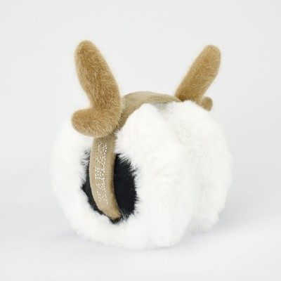 Reindeer Ear Muffs - White