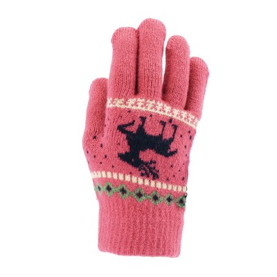 Classic Kids Reindeer Motif Knitted Gloves
