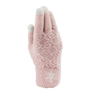 Classic Adults Snowflakes Pineapple Textured Touch Screen Knitted Gloves