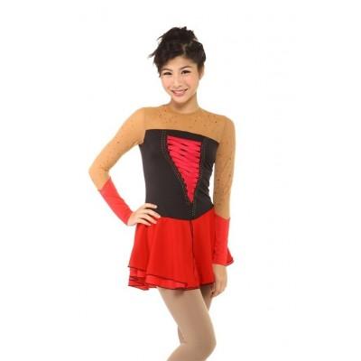 青春时尚 Emma 花样滑冰表演服比赛裙 - 红色
