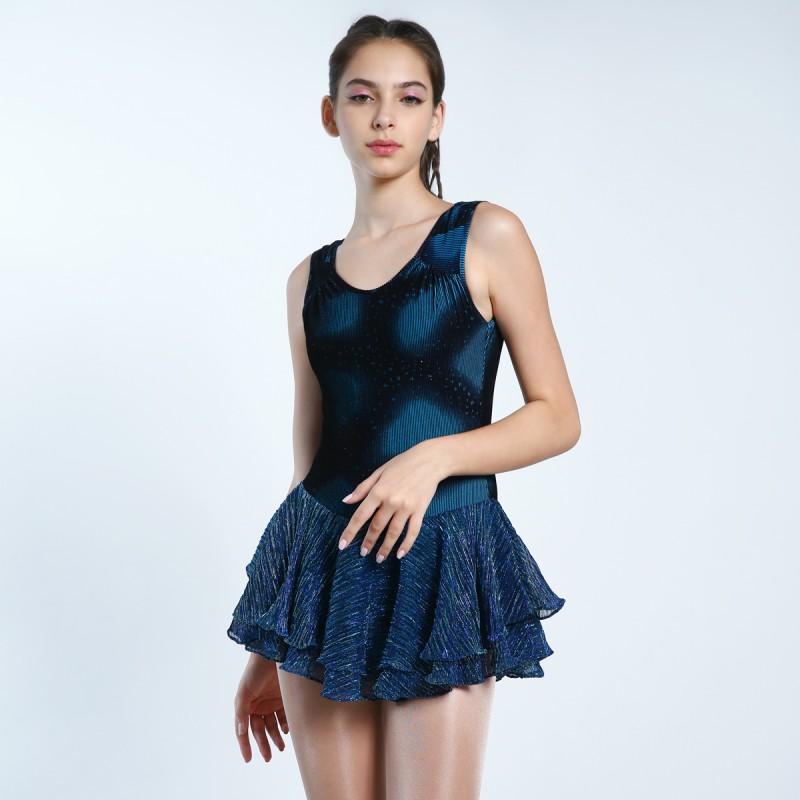 Classic Dancing Blossoms Figure Skating Dress