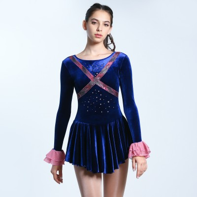 Classic Kelly Figure Skating Dress - Navy