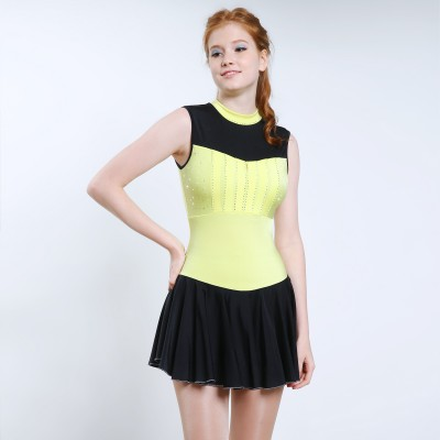 Trendy Pro Ashley Figure Skating Dress - Yellow