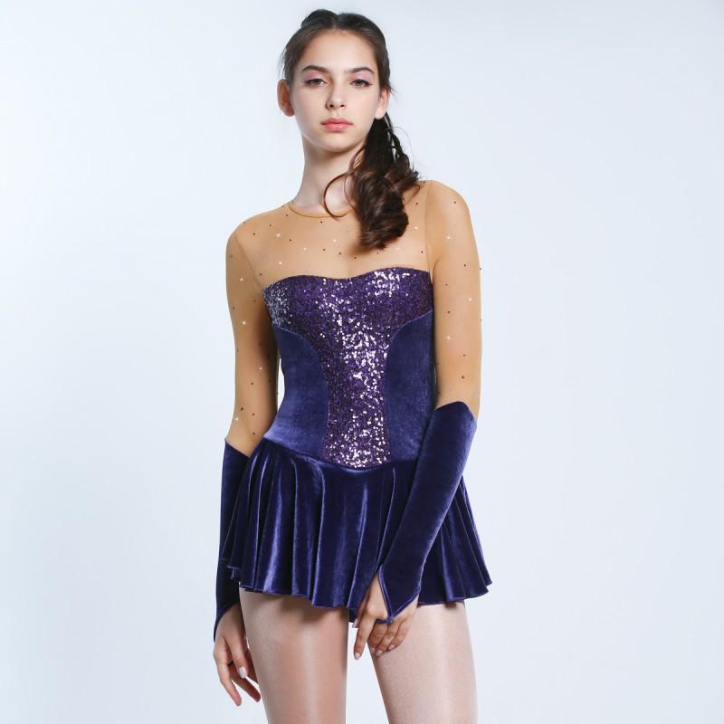 青春时尚 Diana 花样滑冰表演服比赛裙