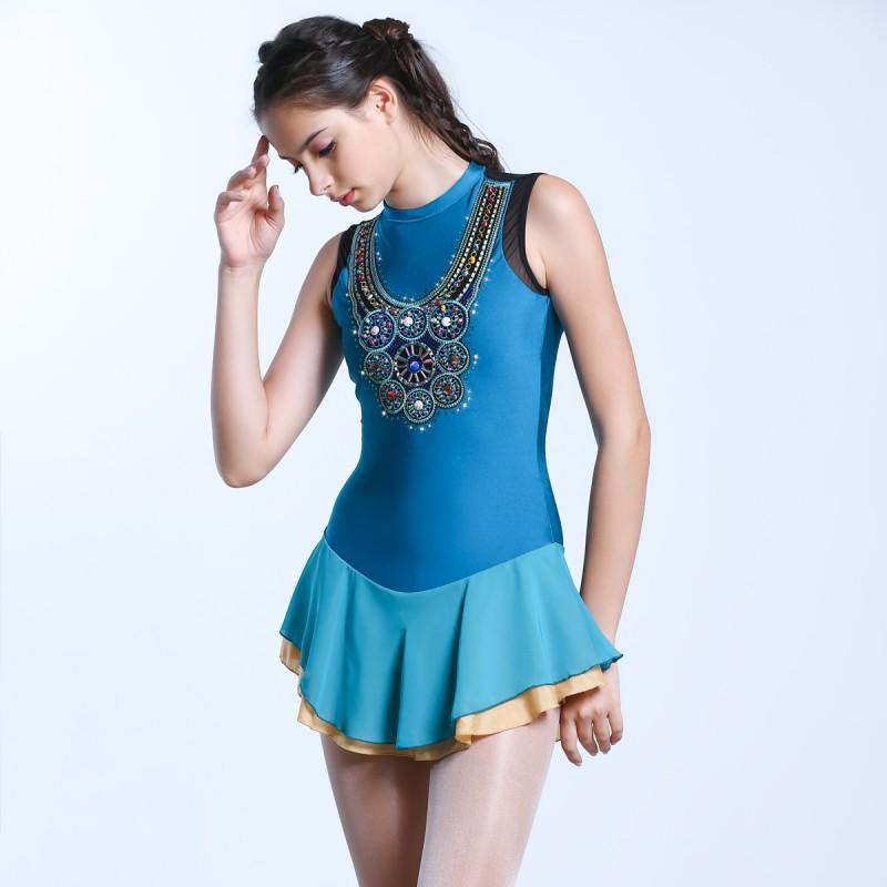 青春时尚 Myra 花样滑冰表演服比赛裙