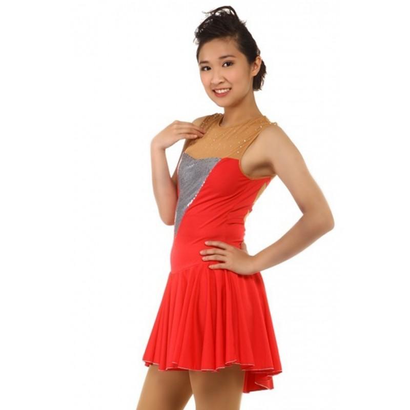 青春时尚 Josephine 花样滑冰表演服比赛裙