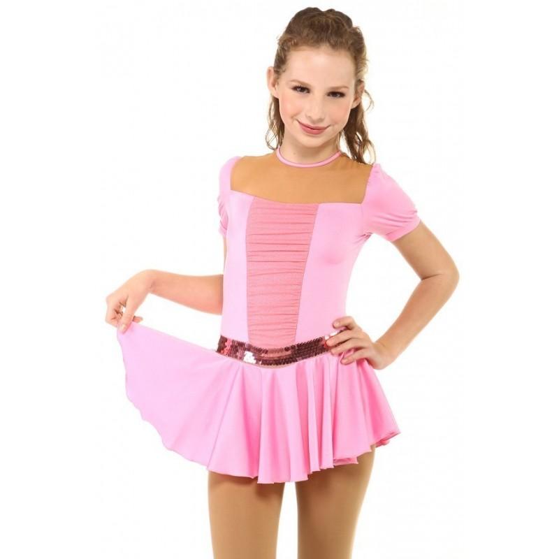 花样滑冰裙,粉红色,亮片