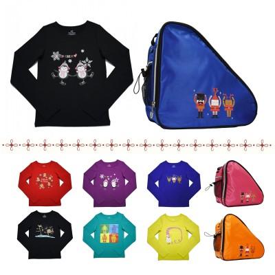大众最爱 XAMAS 限量版欢乐圣诞滑冰T恤和鞋包特价套餐